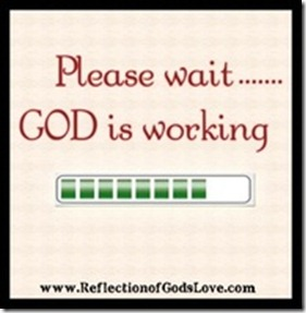 God is working time bar