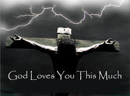 Love held Jesus on the Cross