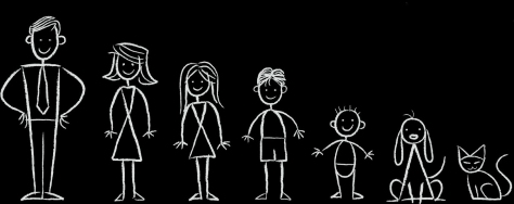 Family ministry stick figures